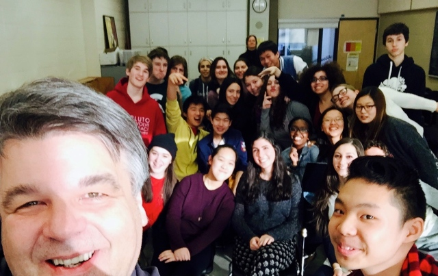 "A Jr. Vocal Class ""Selfie"" with Dr. Timothy Sullivan's Gr. 9-10 Vocal Class: Claude Watson School for the Arts"