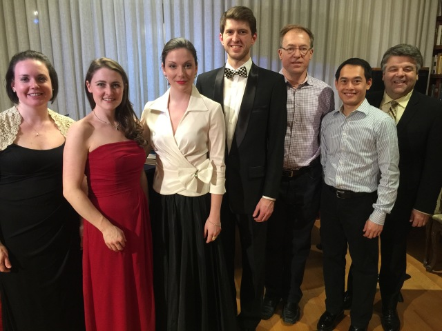 "Taken after our ""Waltzing in a Winter Wonderland"" program for ""Conccerts@100."" Suzy Smith, Caitlin Wood, Lyndsay Promane, Bradley Christensen, Marco Duić, Darryl Edwards"